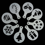 "Coffee Stencils type D  ""Christmas"" ( 8τεμ)"