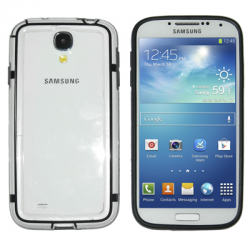 Θήκη Samsung Galaxy S4 bumber with button white